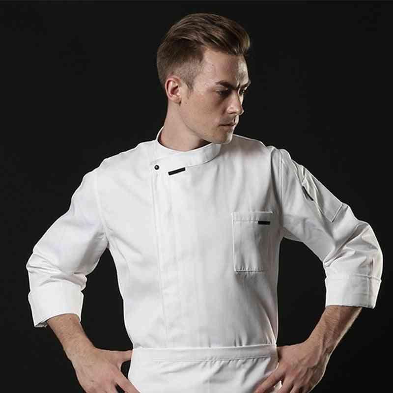 Unisex Chef Jacket Short/long Sleeve Men Women Crossover Cook Uniform