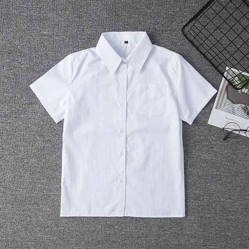 White Shirt For Middle High School Uniforms School Dress Jk Uniform