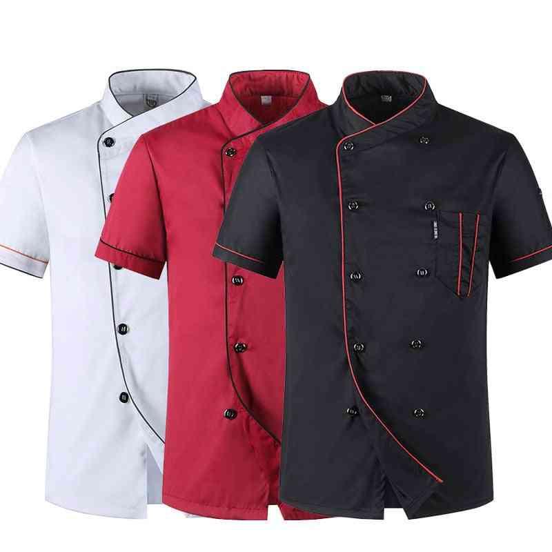 Short Sleeve Restaurant Chef Kitchen Work Uniforms