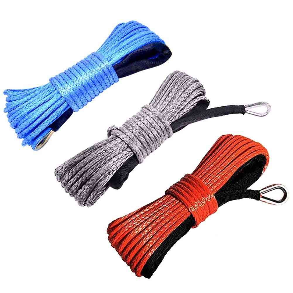 Emergency Replacement Car Outdoor Accessories Synthetic Winch Rope