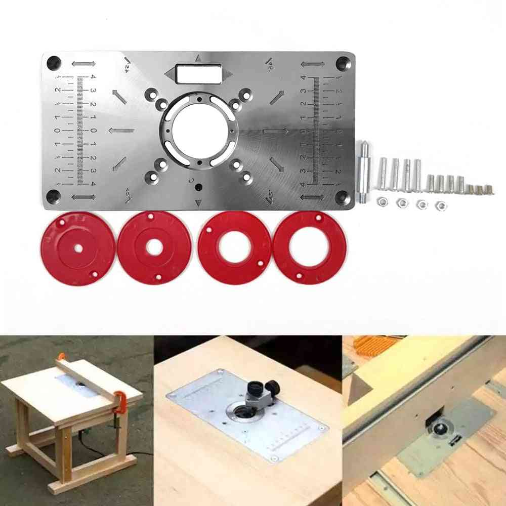 Table Insert Plate Trimmer Engraving Machine