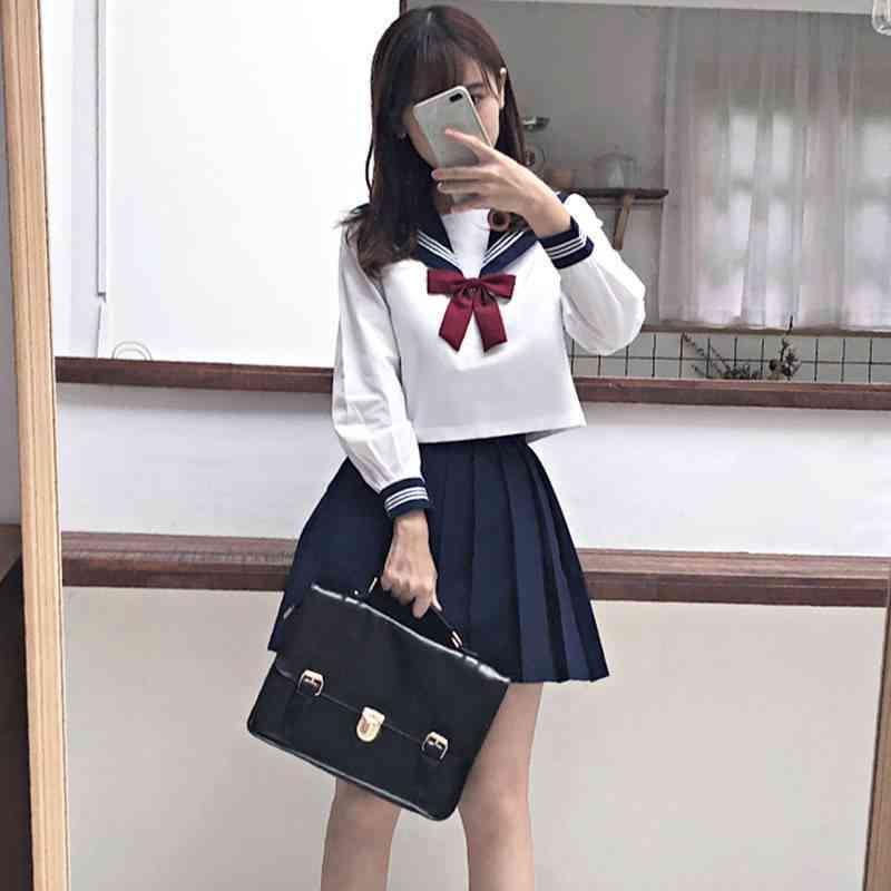 Student School Uniforms Navy Costume Women Sexy Navy Jk Suit