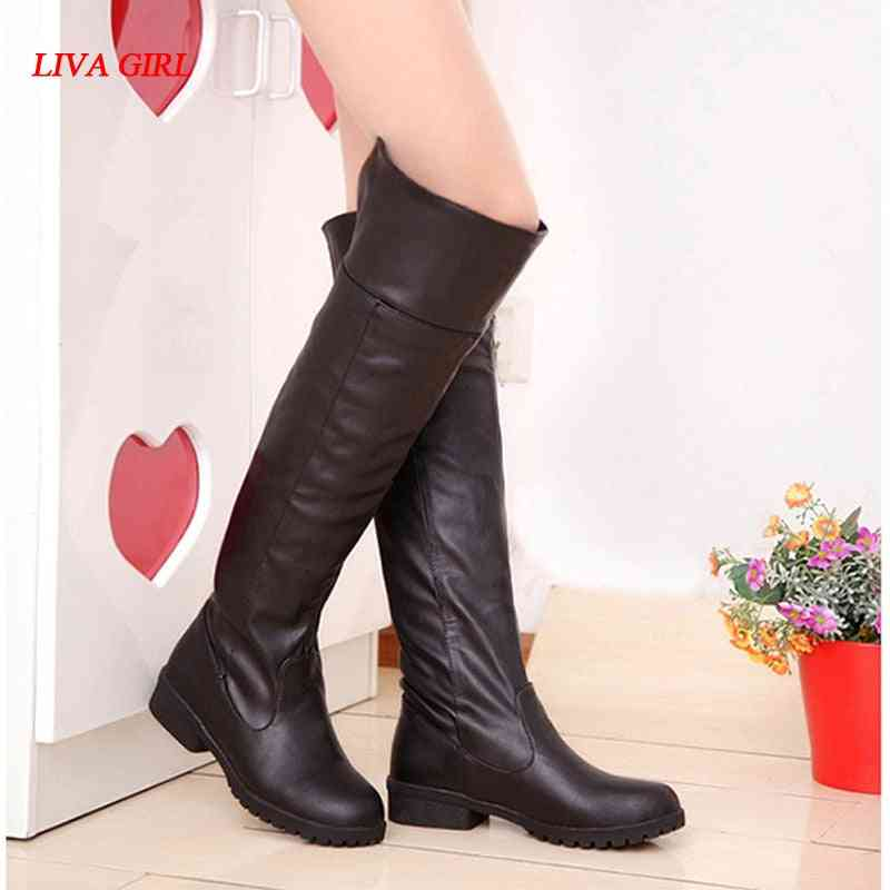 Women Attack On Titan Cosplay Long Boots