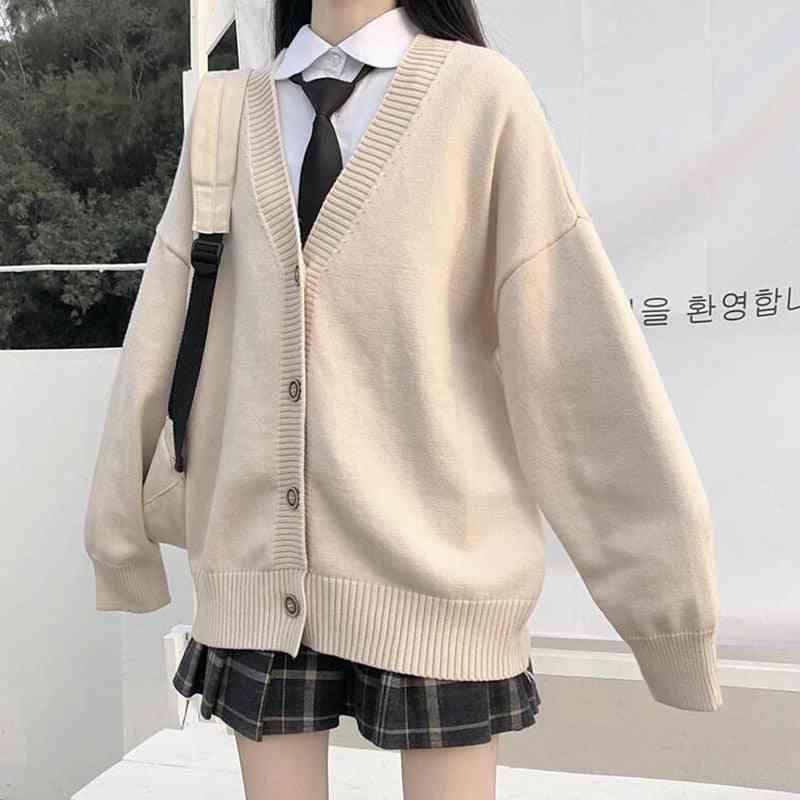 Sweater Female Outer Wear Jk Sweater Coat Japanese School Uniform