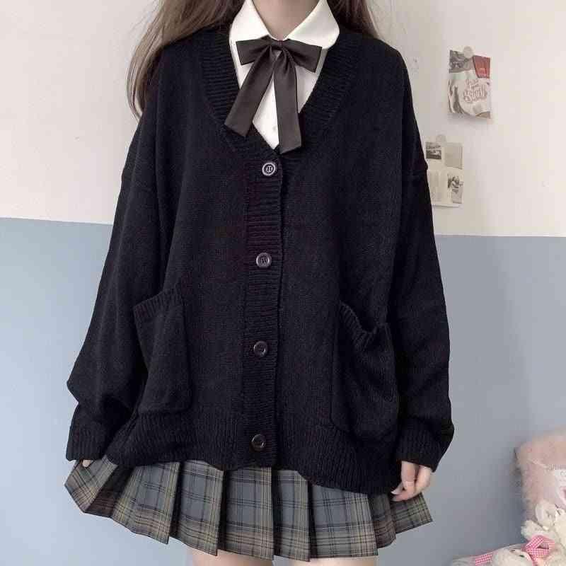 Japanese Loli V-neck Jk Uniforms Cute Sweet Sweater Jackets