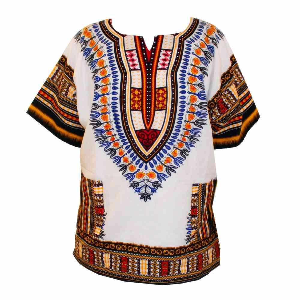 100% Cotton Dashiki T-shirts For Unisex