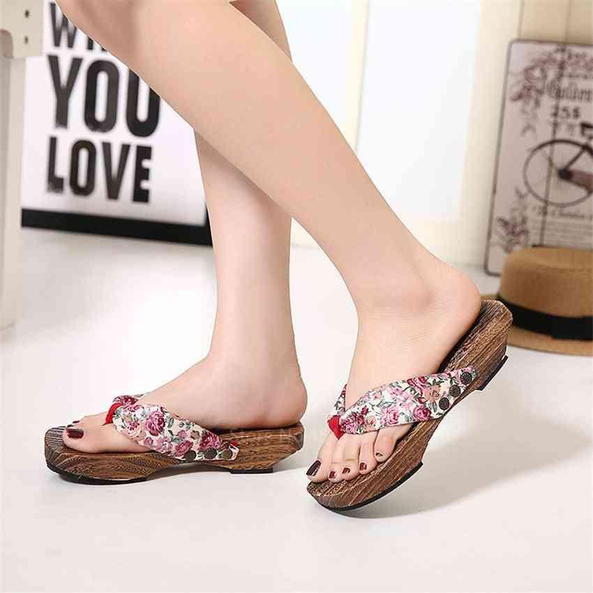 Cosplay Japanese Geta Clogs Kimono Shoes