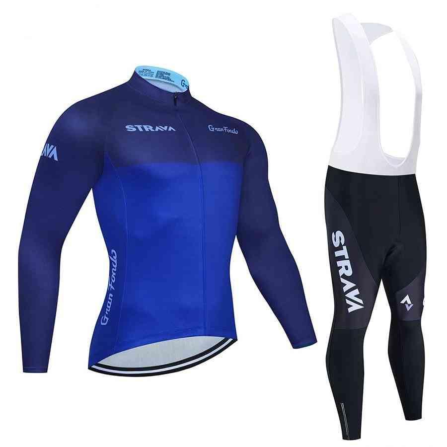 New Team Long Sleeve Cycling Jersey Set Pants