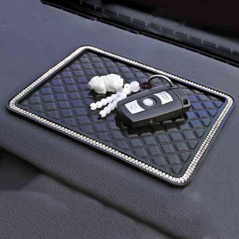 Crystal Rhinestone Automobile Silicone Non-slip Mat Pad