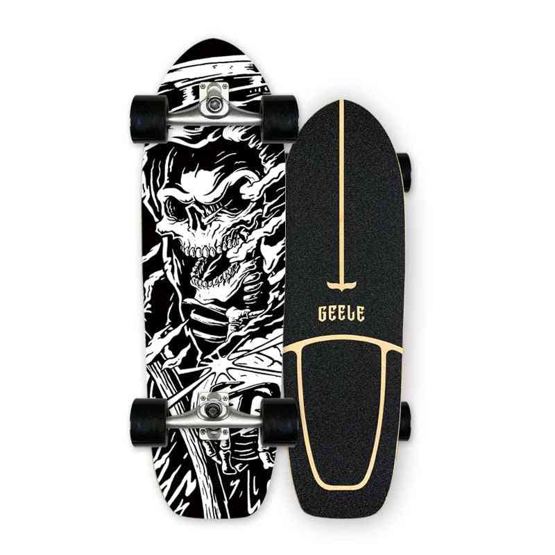 Highly Smooth Carver Surf Land Skateboard Cx4 Cx7 Professional Maple Cruiser Skate Board Longboard For Street Brushing Carving