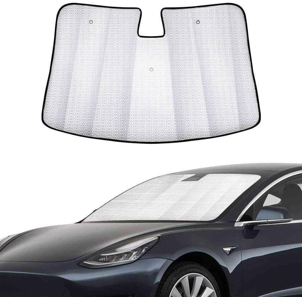 Car Windshield Sunshade Automotive Front Window Sun Block Accessories Reflective Sunvisor Protector Parasol For Tesla Model 3
