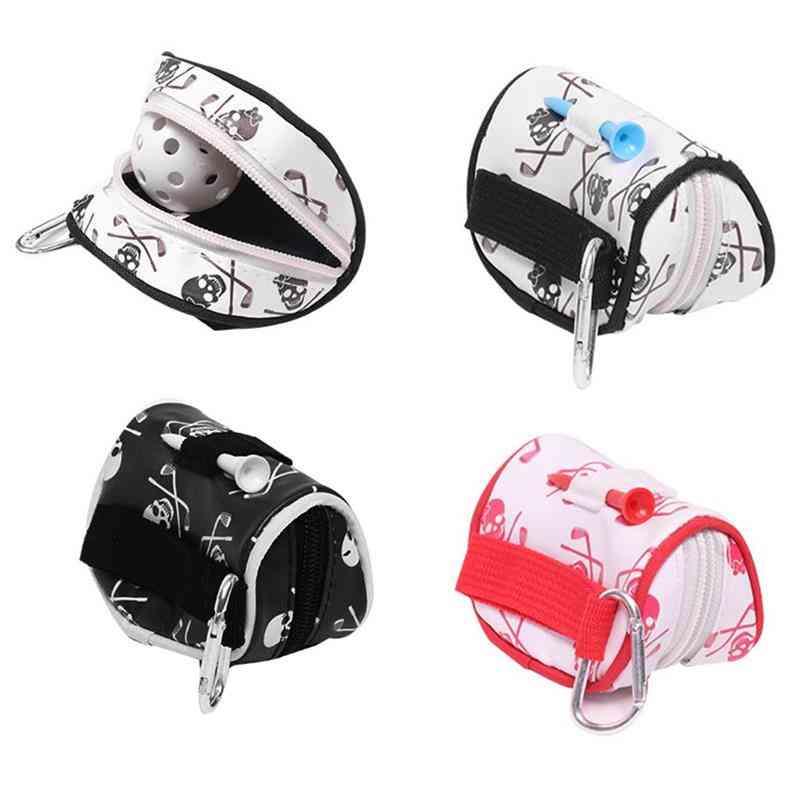 Mini Zipper Golf Ball Bag Tees Holder