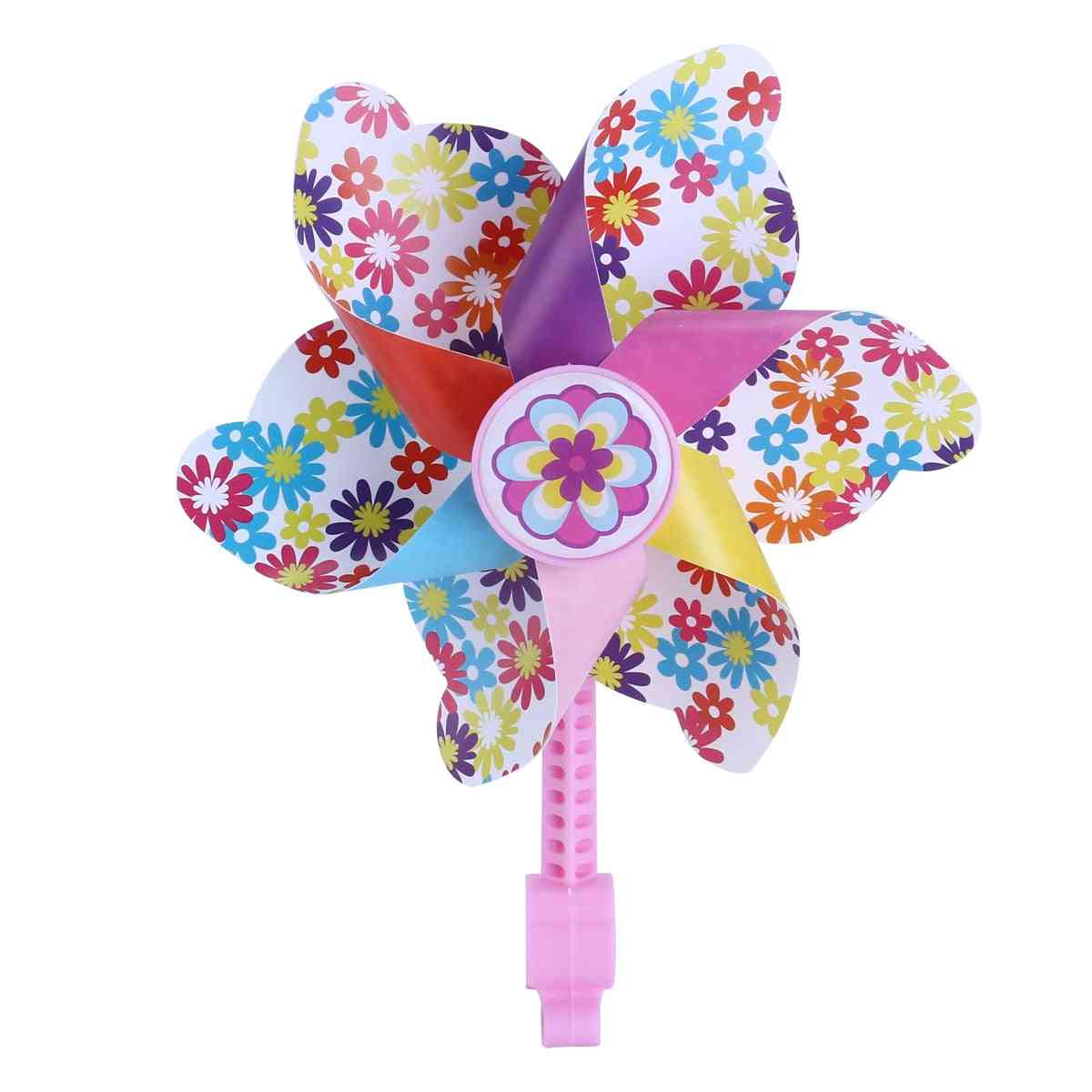 Children Bike Handlebar Flower Pinwheel Windmill