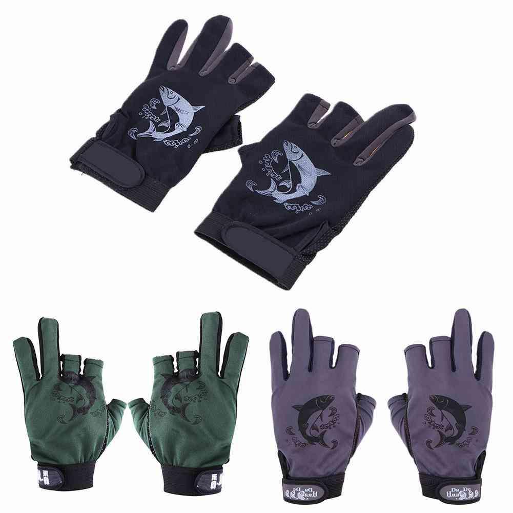 1 Pair Fishing Gloves Men Women Universal Fishing Anti-slip Half Finger Pack Sports Fish Equipment Cycling Breathable Gloves