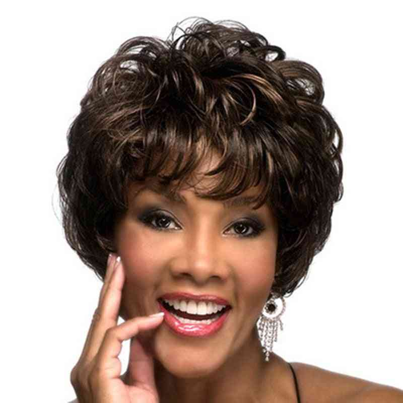 Short Hair Synthetic  Wigs For Black Women