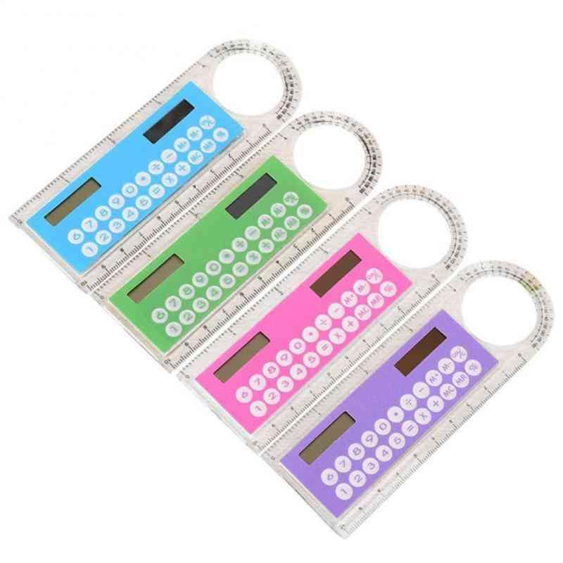 Mini Portable Multifunction Colorful Student Ruler Calculators