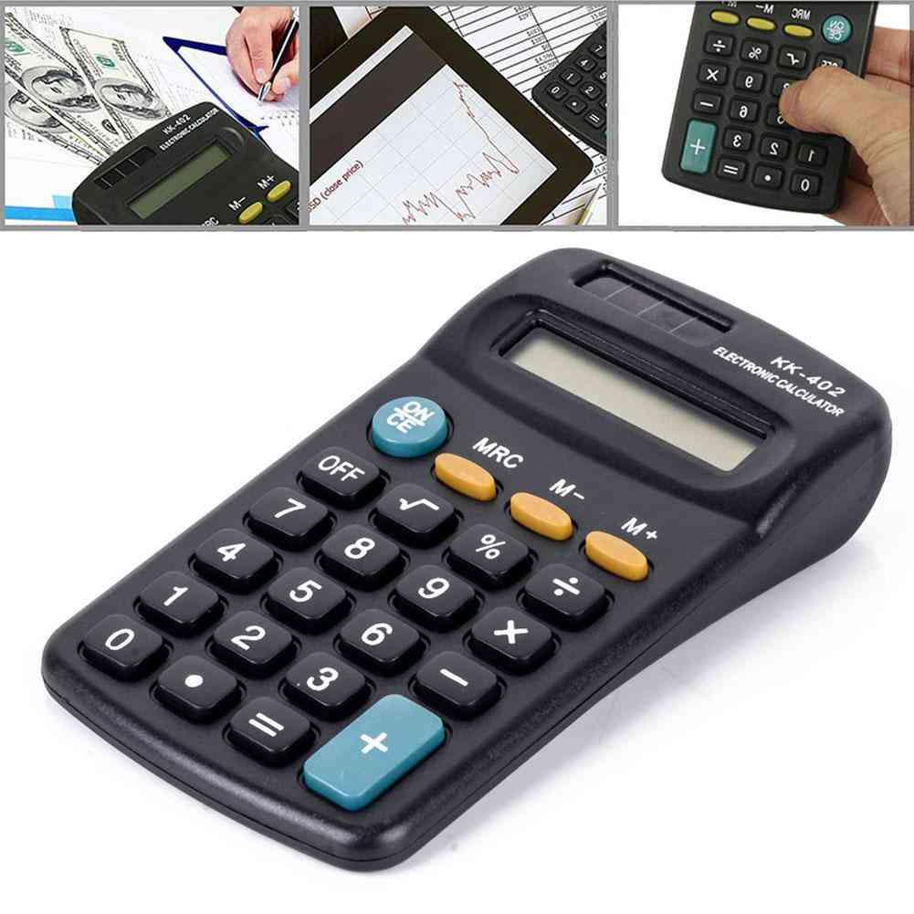 8 Digit Battery Powered Mini Electronic Calculator