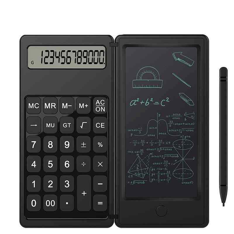 Foldable Calculator & 6 Inch Lcd Writing Tablet