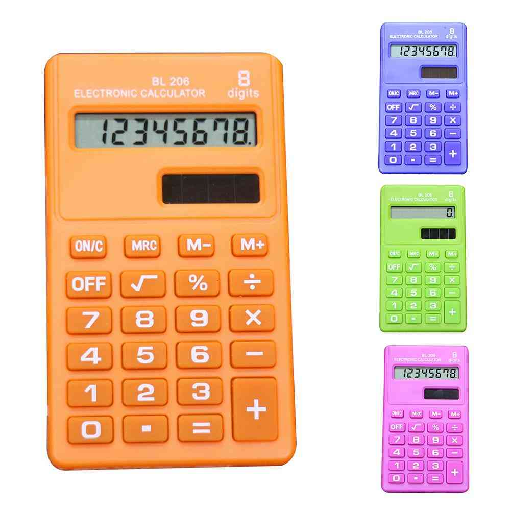 Candy Color 8 Digits Pocket Mini Electronic Calculator