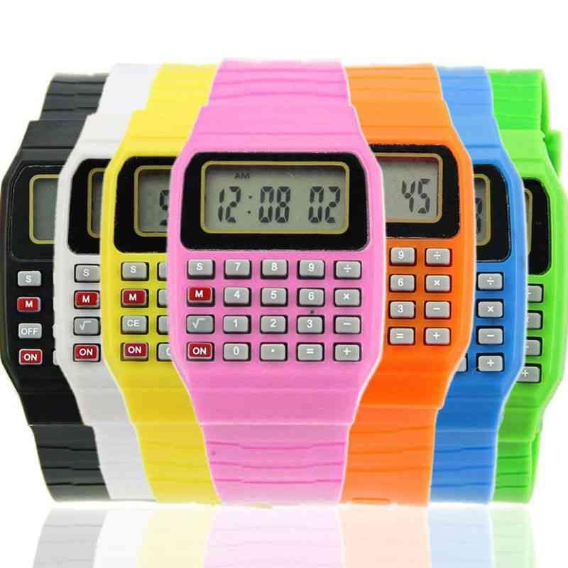 Silicone Date Multi-purpose Kids Electronic Calculator Wrist Watch