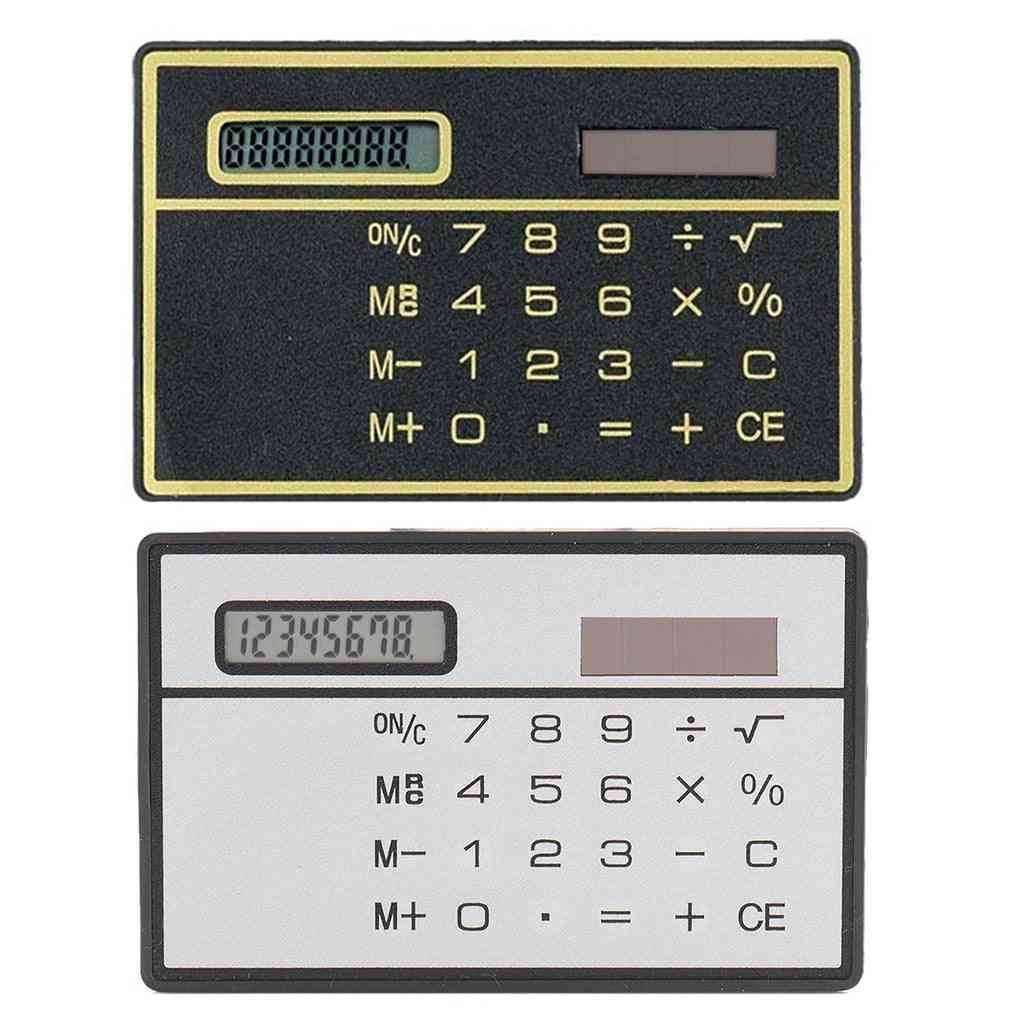 8 Digit Ultra Thin Solar Power Mini Calculator With Touch Screen