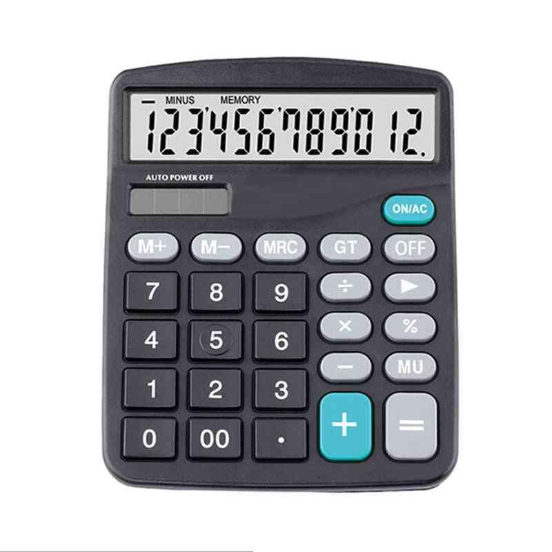 Black 12 Digit Large Screen Calculator
