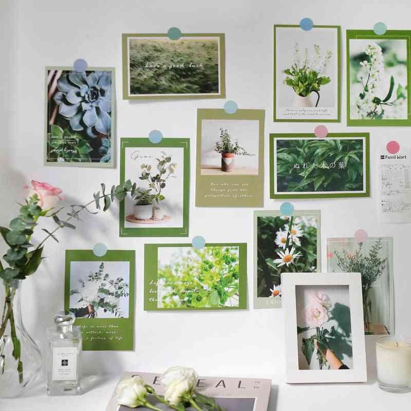 Ins Flower Rose Lavender Green Plants Postcard