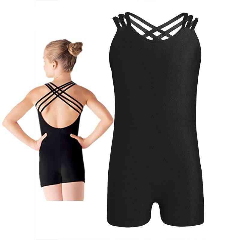 Sleeveless Strappy Ballet Dance Gymnastics Leotard Jumpsuit