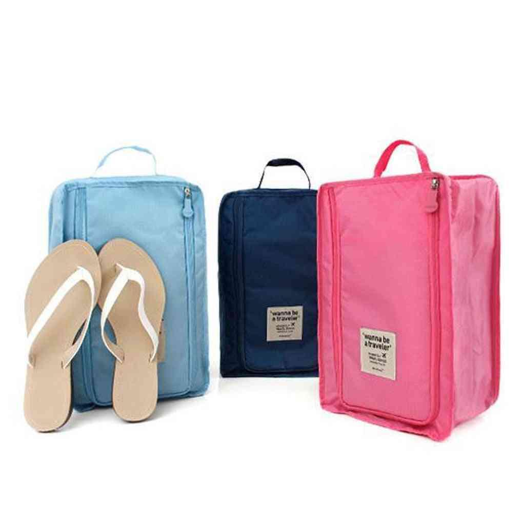 Nylon Portable Organizer Bags Shoe Sorting Pouch