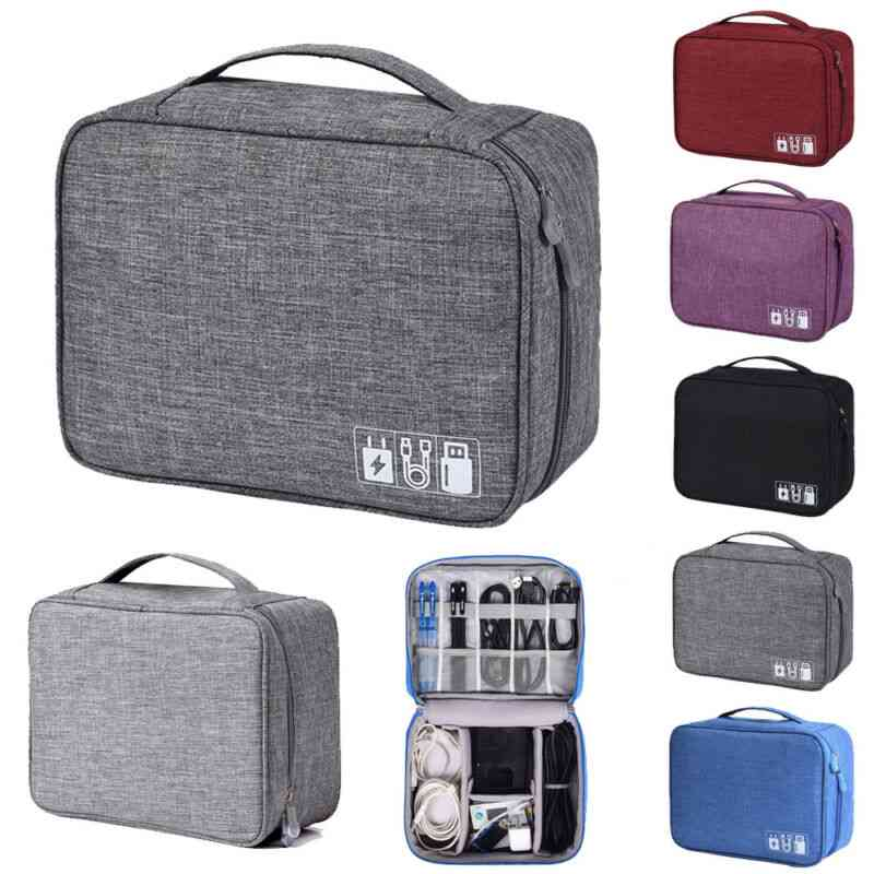 Waterproof Zipper Multi-layer Soft And Shockproof Travel Cable Drive Storage Bag