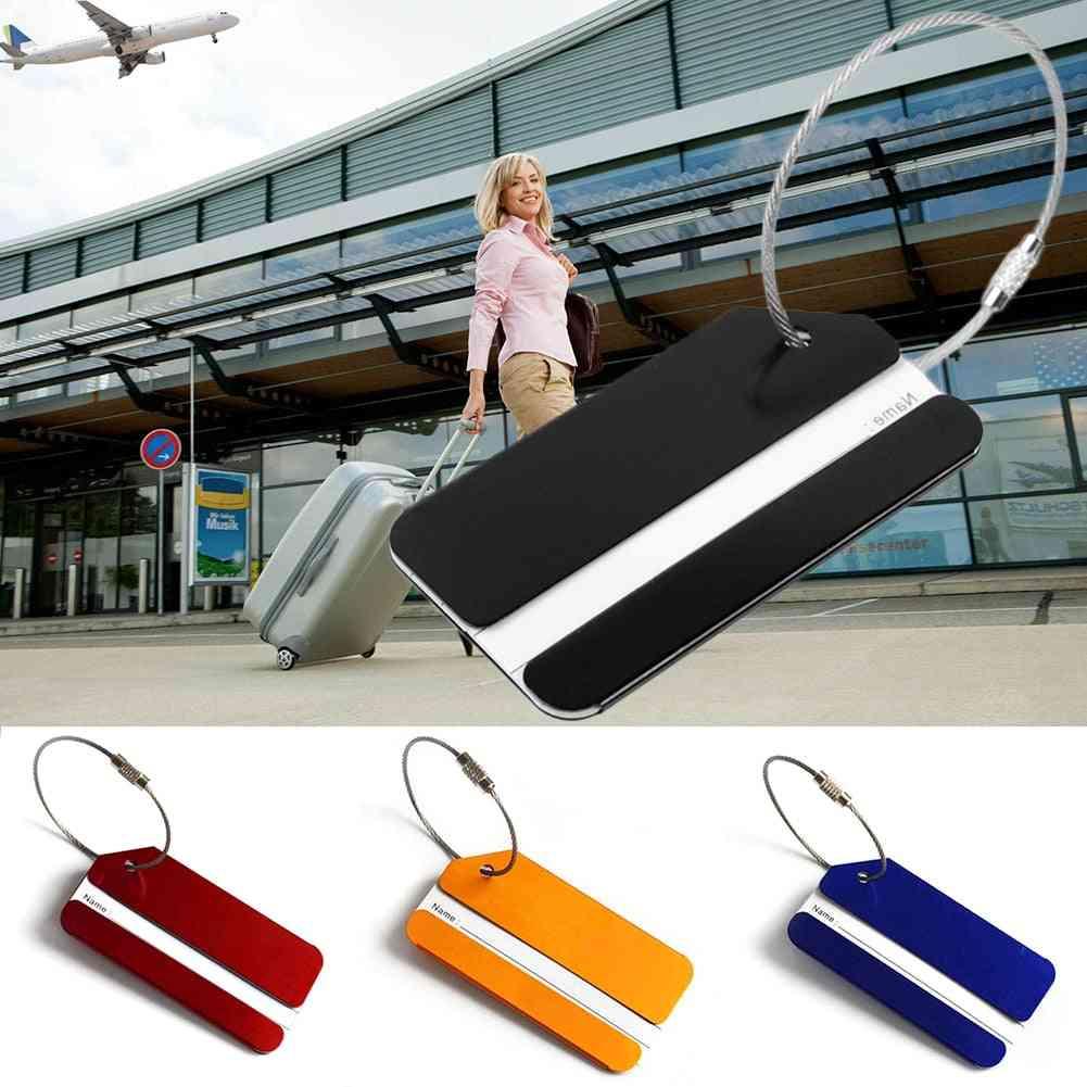 Aluminum Alloy Suitcase Name Id Address Tags