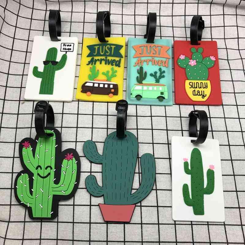 Fresh Cartoon Cactus Creative Luggage Tag