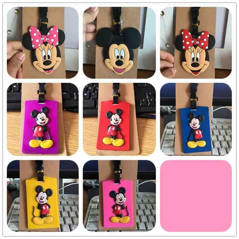 Disney Cartoon Mickey Mouse Luggage Tag Case Id Address Holder
