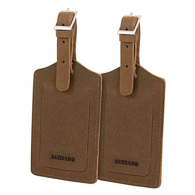 Genuine Leather Luggage Baggage Tags