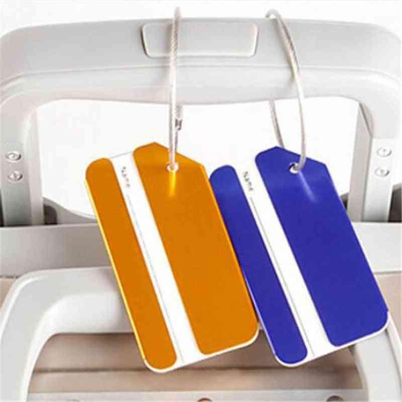 Square Aluminum Alloy Metal Luggage Tag