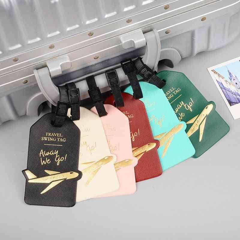 Creative Aircraft Pu Leather Luggage Tag