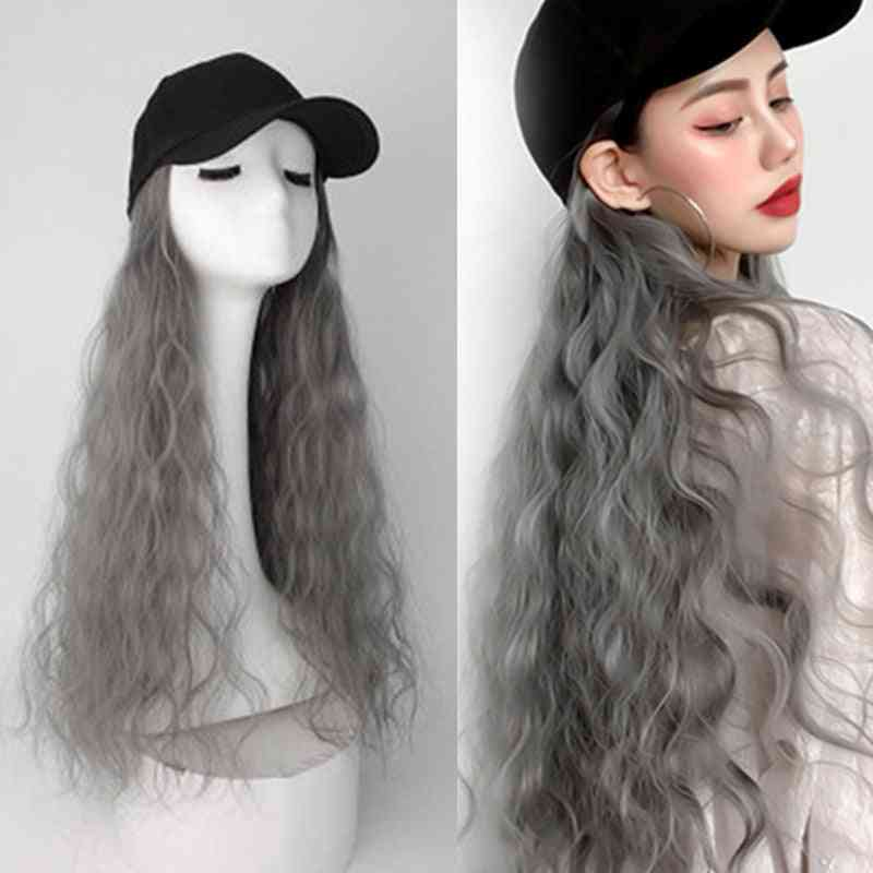 Fashion Hat, Long Curly Baseball Easy For Girl