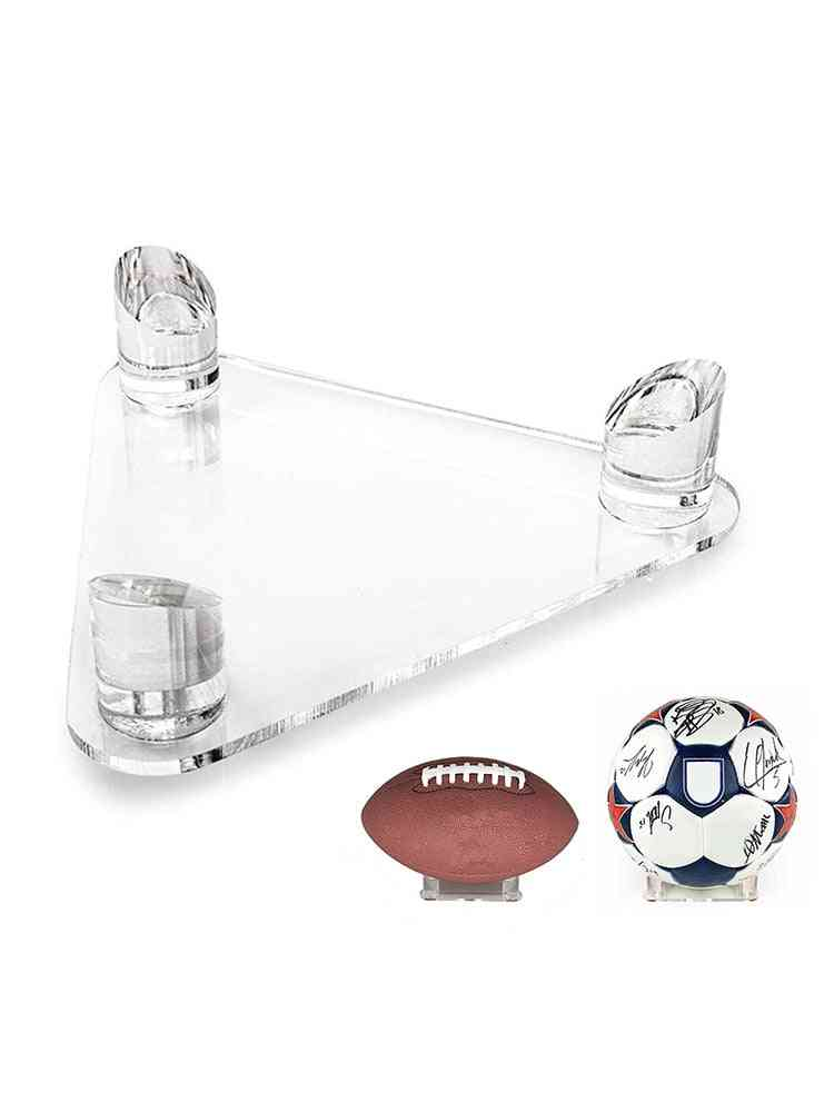 Acrylic Triangle Display Stand Holder For  Basketballs