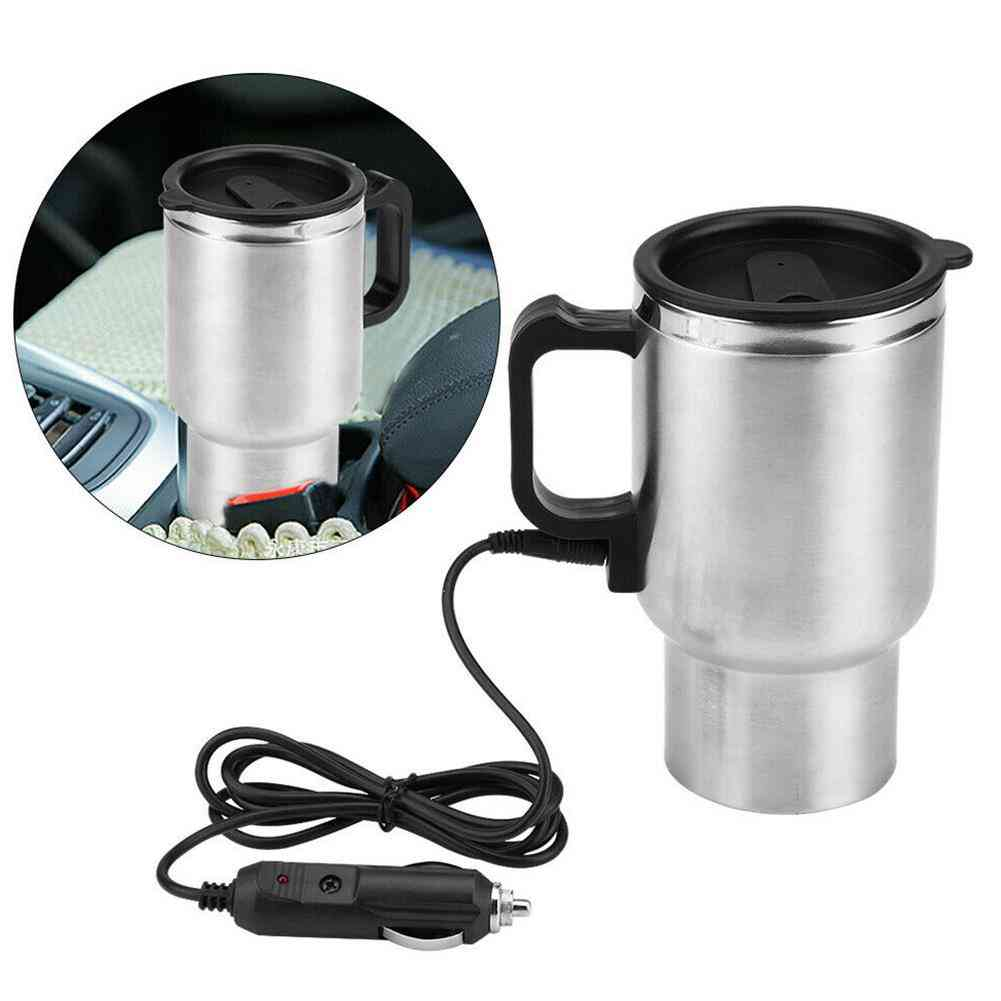 500ml 12v Car Vehicle Heating Stainless Steel Water Cup