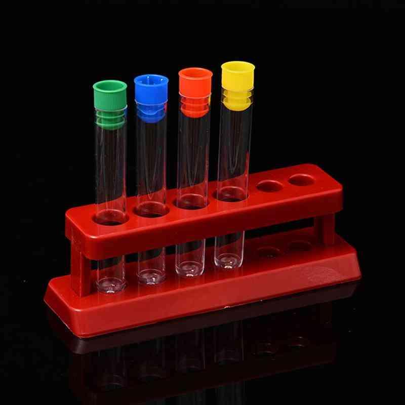 Plastic Test Tubes With Storage Rack