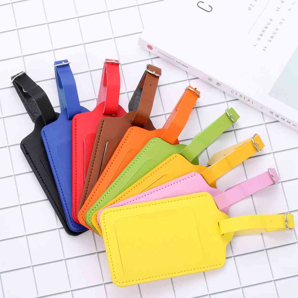 Pu Leather Suitcase Luggage Label Tag