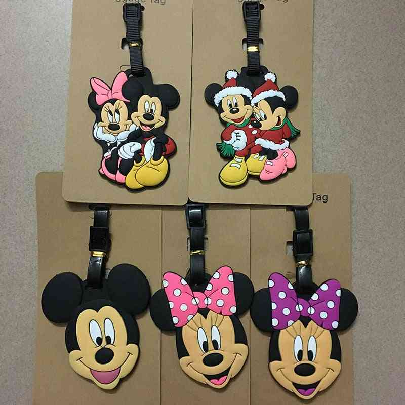 Mickey Mouse Suitcase Id Address Holder, Baggage Boarding Tags