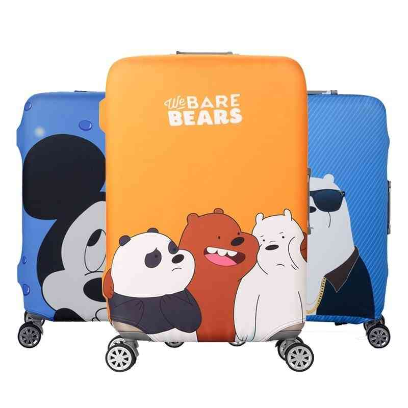 Cartoon Animals Trolley Baggage Elastic Dust Protective Case Cover