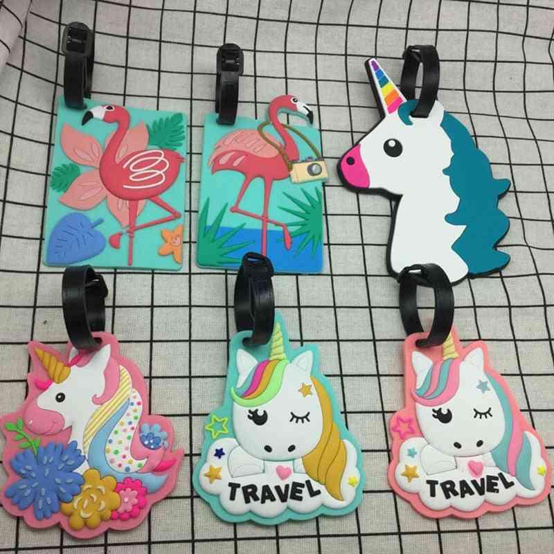 Cartoon Unicorn Travel Accessories Luggage Tag