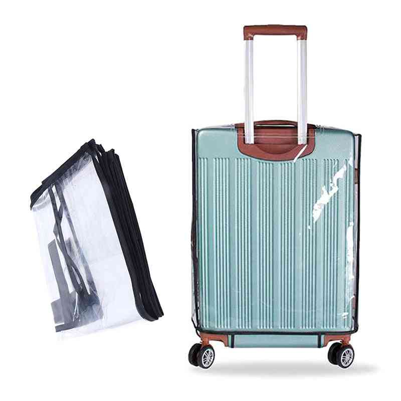 Pvc Transparent Travel Luggage Protector Suitcase Dust Cover