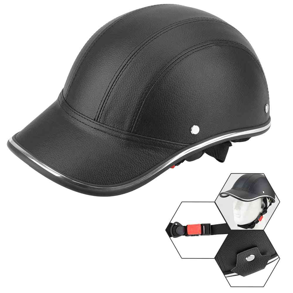 Cap Style Motorcycle Half Helmet Safety Hard Hat For Cap