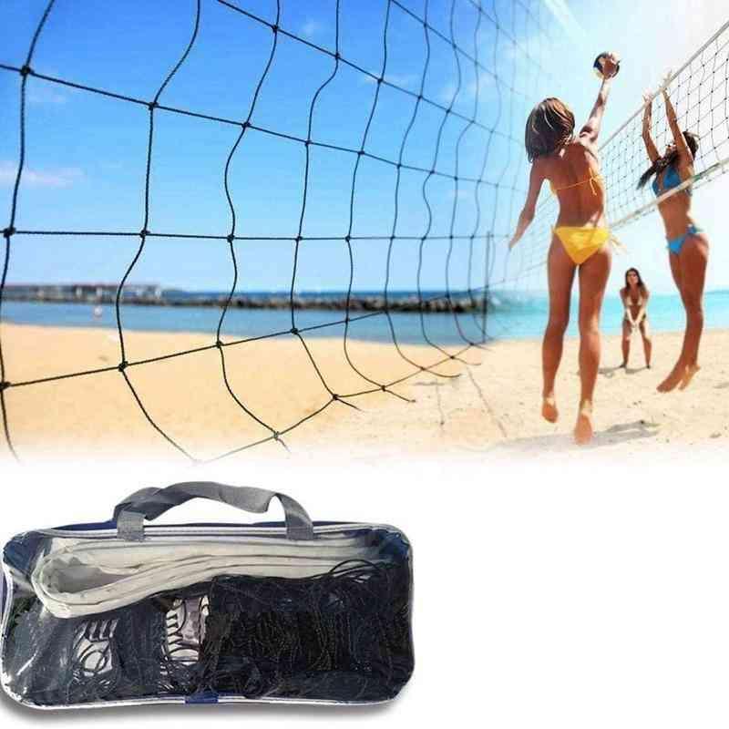 Summer Beach Volleyball Net Netting Training Badminton Net Mesh Replacement International Match Standard Official Size 950x80cm