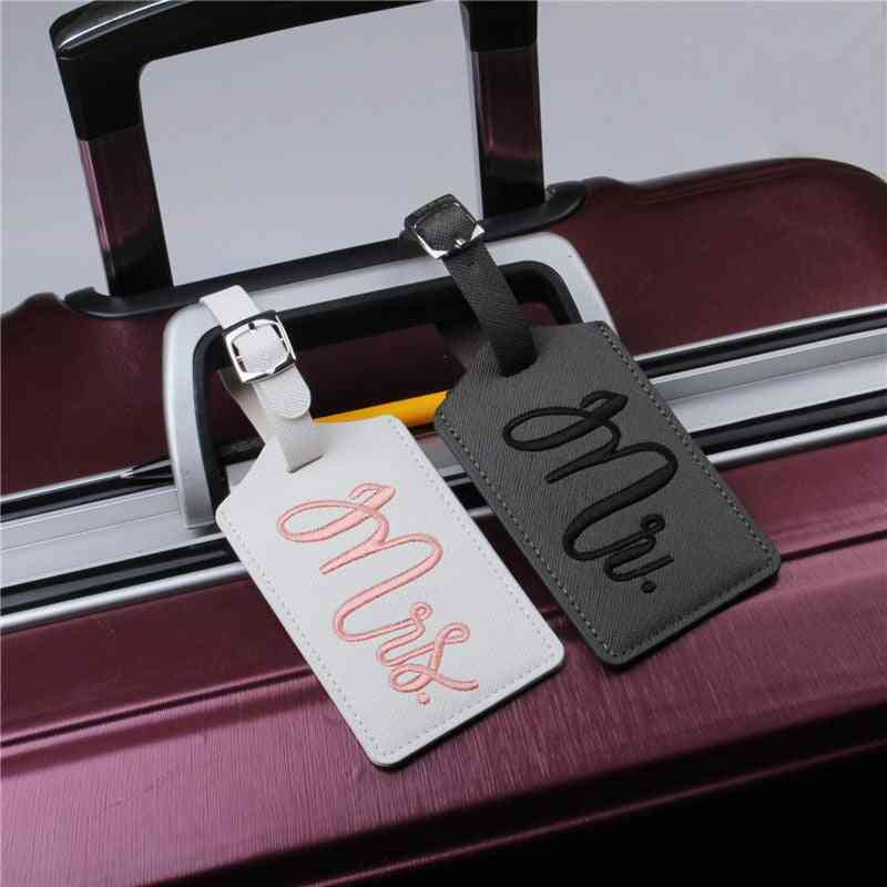 Wedding Mr And Mrs Leather Travel Luggage Tags