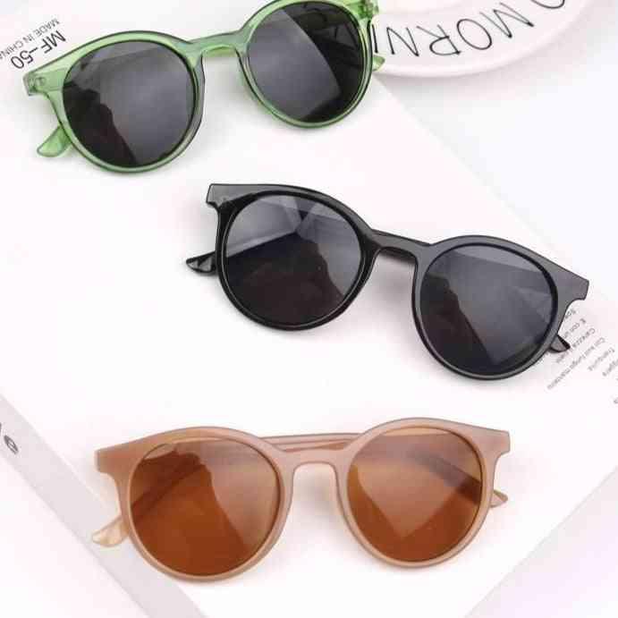 Fashion Round Anti-uv Sun Glasses