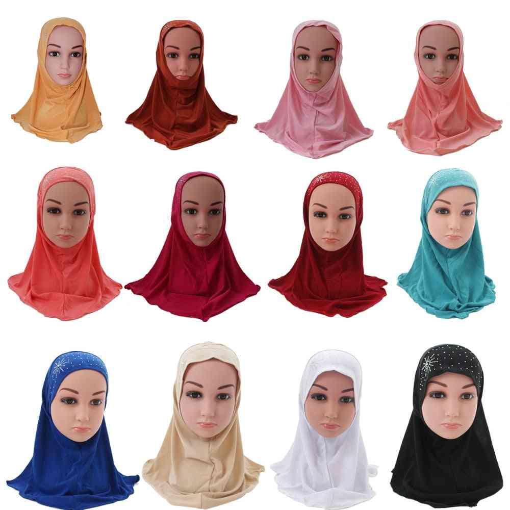 Islamic Muslim Scarf School Rhinestone Headwear